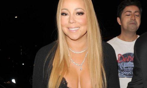 Mariah Carey's Cleavage in London
