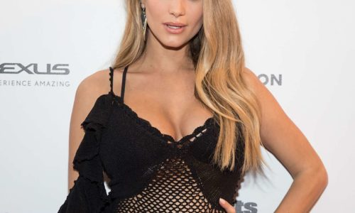 Hannah Davis Jeter Wore Granny Panties Under Her See-Through Dress