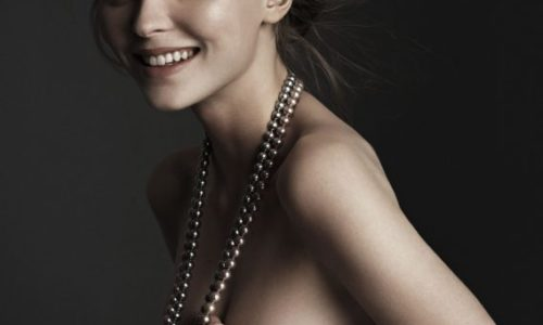 Lily-Rose Depp Topless for Vogue Italy