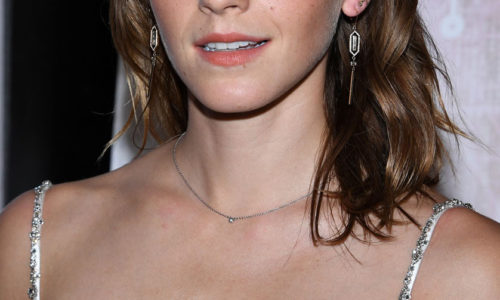 Emma Watson Busts Out Her Plentiful Braless Cleavage, Oh My!