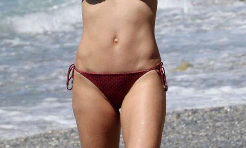 Michelle Hunziker Bikini Photos in Varigotti