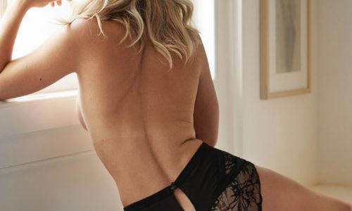 Jennifer Hoffman in Her Underwear for Esquire