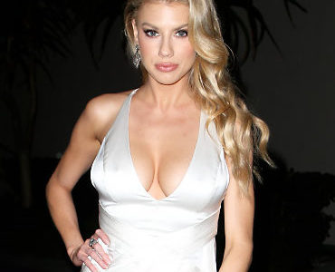 Charlotte McKinney Busting Out Her Ginormous Braless Cleavage