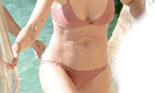 Helena Christensen Bikini Photos at Bronte in Sydney, Australia