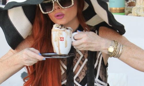 Phoebe Price Spreads it in a Sheer Dress of the Day