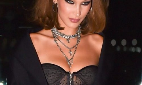 Bella Hadid is Terrifying in a Lingerie Dress of the Day