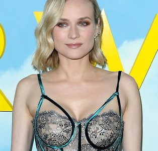 New Mom Diane Kruger Busts Out Her Bustier Braless Cleavage