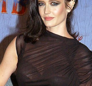 Eva Green Flashing Her Massive Bosom In A Revealing Dress