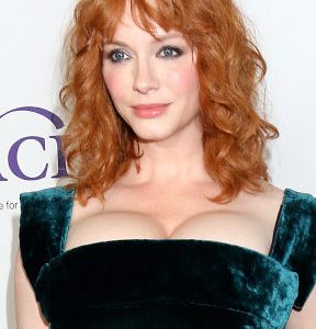 Christina Hendricks Busting Out Her Ginormous Super Cleavage Like Bananas!