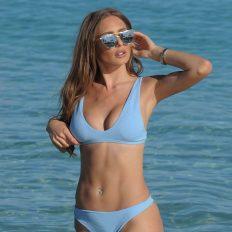 Georgie Clarke Bikini Photos at the Beach in Marbella, Spain
