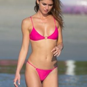 Gigi Paris Pink Bikini Photos in Mexico