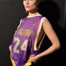 Olivia Culpo Wears Her Philipp Plein Kobe Jersey in Milan